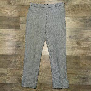 H&M Pants Womens Sz 10 Houndstooth Black White